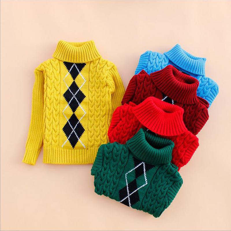 2016 Kids Sweater Baby Boys Girls Sweater Children Autumn Winter Spring Sweater Kids Unisex Turtleneck Sweater(China (Mainland))