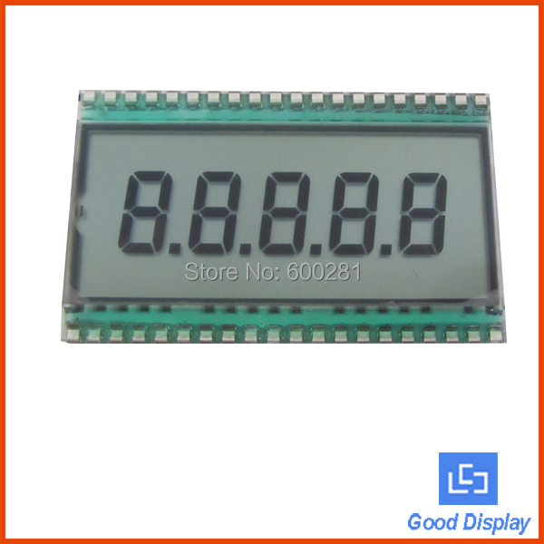 Standard 5 digits tn lcd glass 7 segment lcd display EDS820(China (Mainland))