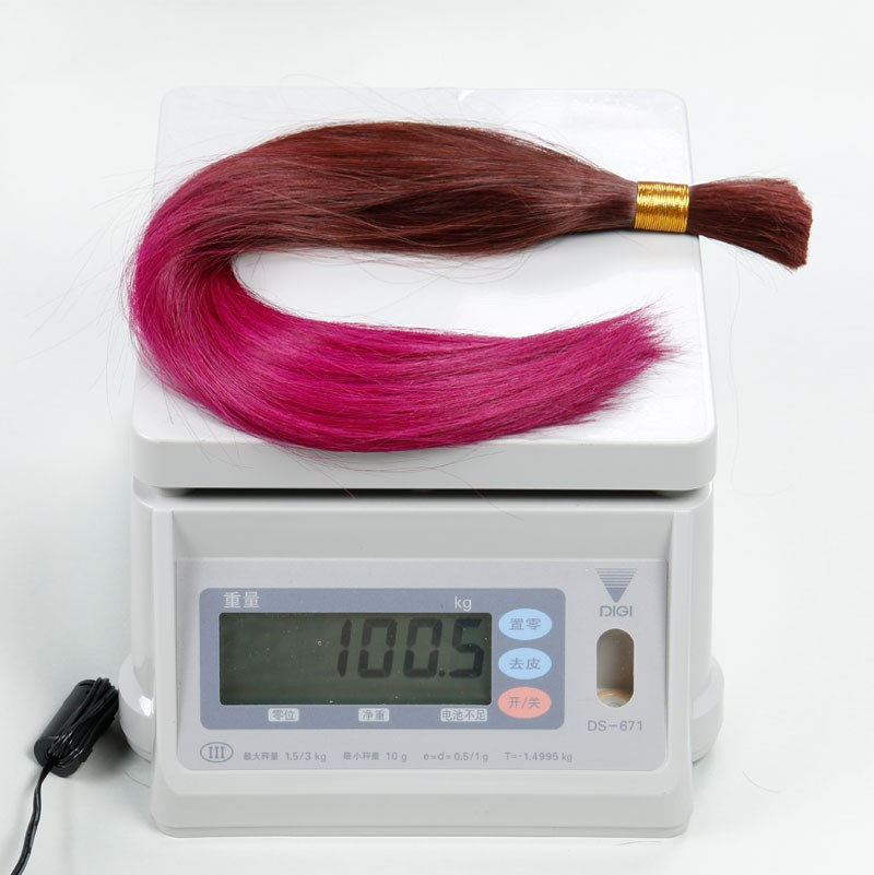 Sleek Ombre Hair Extension 100% Colorful Girls Human hair The Best 10A Quality Bulk Hair Ombre Brazilian hair 2PCS/lot