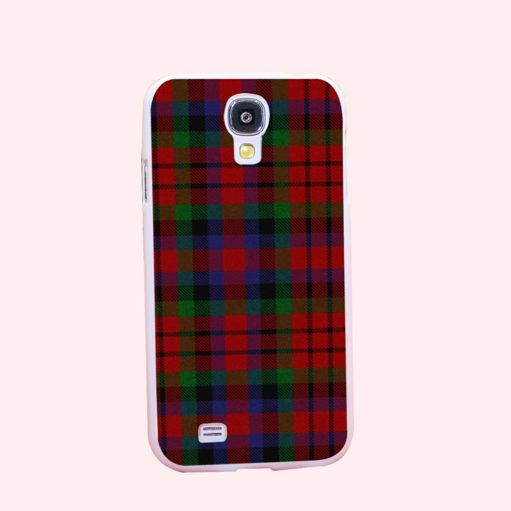 RED BLUE font b TARTAN b font SCARF FASHION Hard White Cover Case for Galaxy S3