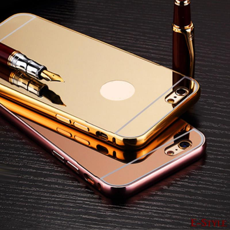 For iphone Luxury Plated Acrylic + Aluminun Metal Case for Apple iphone 6S 6 4.7 inch 5s 5 4 4s cover protective Phone Bag(China (Mainland))