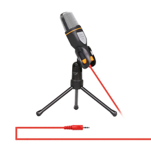 3.5mm Jack Audio Condenser Microphone Mic Studio Sound Recording Wired Microphone with Stand for Radio Braodcasting Singing(China (Mainland))