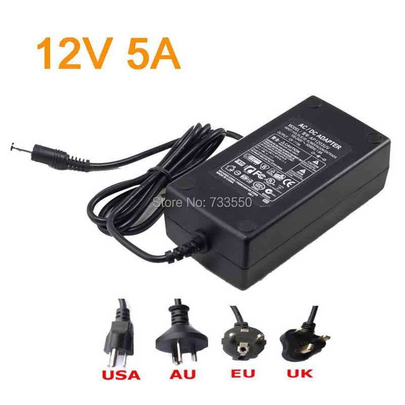 12v 5a 60W LED Power Supply for 3528 5050 Led Strip 12V 5A LED transformer for led strip(China (Mainland))