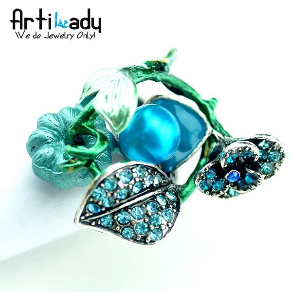 Artilady C2909 vegetable garden adjustable ring 5colors party jewelry christmas ideas new style