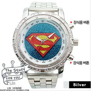 free shipping 2013 fashion Quartz watch/wholesale fashion superman watches 10pc/lot -Best sell watch
