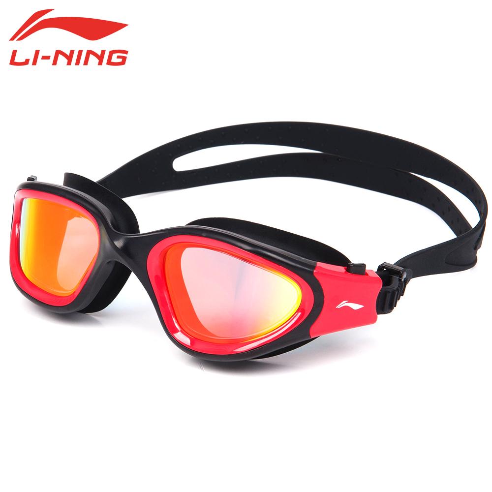 LI-NING Anti Fog Anti-ultraviolet Adult Optical Swimming Goggles Men Women Adjustable Eyewear Waterproof Swim Glasses LSJL627(China (Mainland))