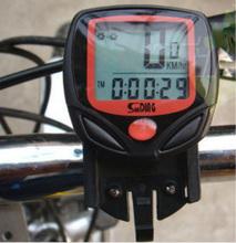 wholesale 200pcs/lot Waterproof Digital LCD Bike speed meter Bicycle Odometer Speedometer Computer Display watch(China (Mainland))