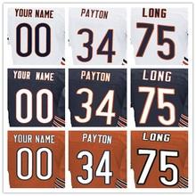 100% Stitched With Customized Men's #6 Jay #17 Alshon #23 Kyle #34 Walter #75 Kyle Elite Navy Blue Orange White Jersey(China (Mainland))