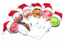 50pcs/set Christmas lollipops candy small hat adornos navidad enfeites de natal Christmas Decoration natal Supplies(China (Mainland))