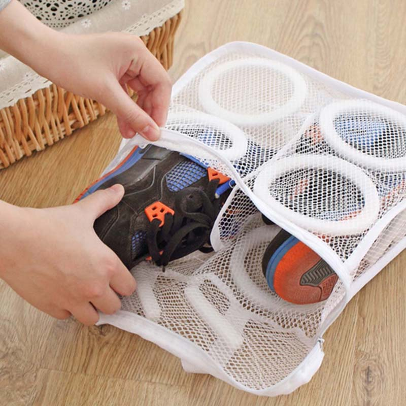 1 Pcs Nylon Laundry Bag Shoes Support Storage Organizer Mesh Washing Dry Sneaker Tennis Boots Baskets Household Cleaning Tools(China (Mainland))