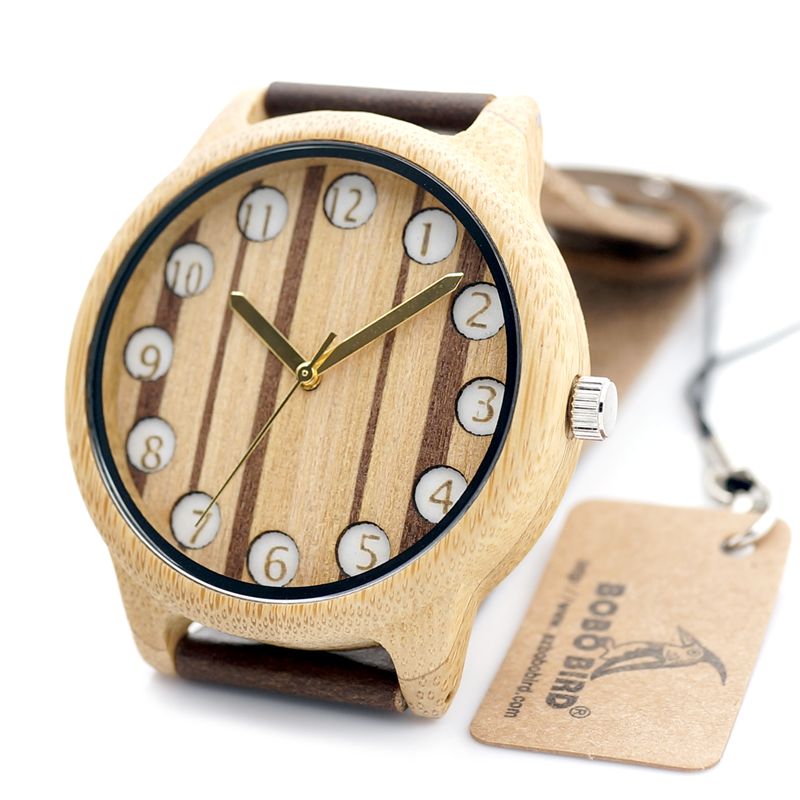 2016 Fashion Bamboo Wooden Watch Mens Top Luxury Brand ...