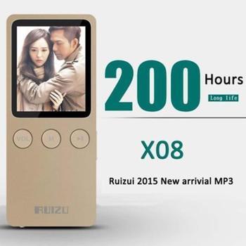 "Speaker 1.8"" 8GB MP4 Player Slim Video Radio FM Player For 64GB Micro SD TF Card Music play times 200 hours RUIZU X08"