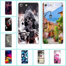 Buy New Cute Painted Case Sony Xperia M5 Fashion Soft Tpu Protective Phone Shell Back Cover Sony Xperia M5 Dual Phone Bag for $1.05 in AliExpress store