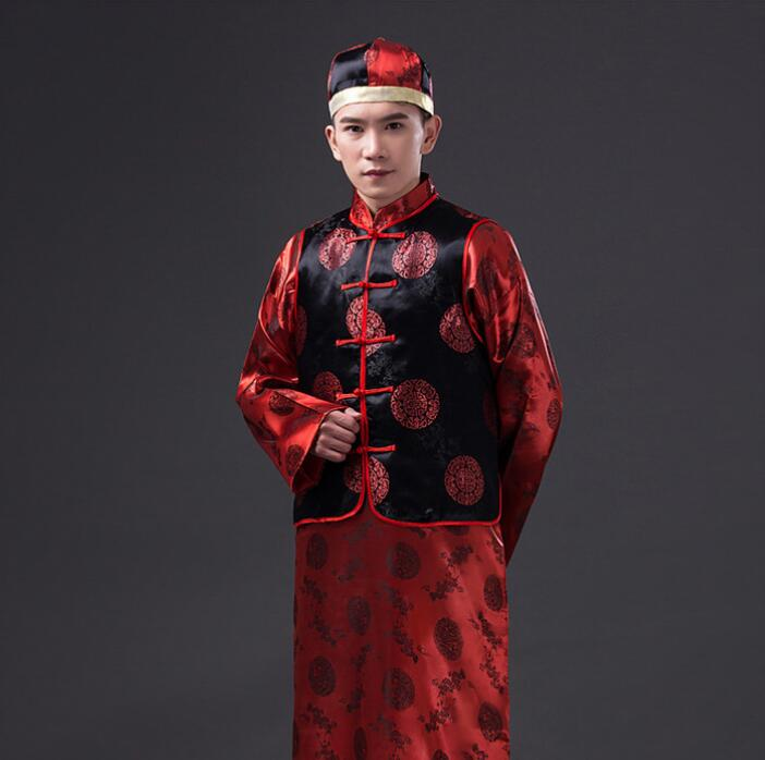 The Chinese dress robe costume suit with men's Wedding Dress Age landlord toast clothing like service
