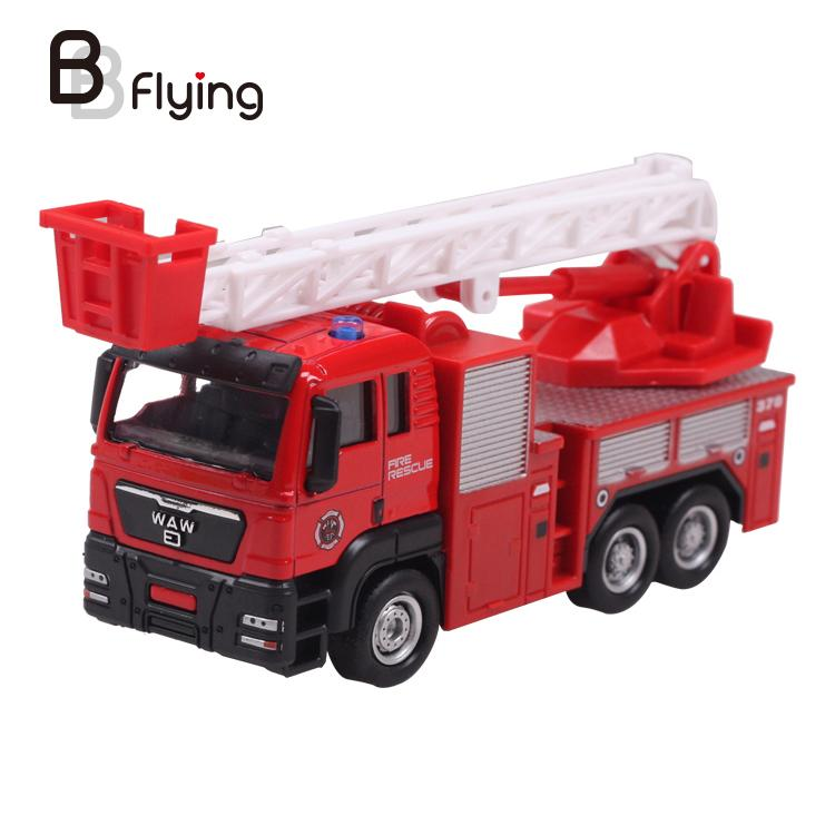 Model toys Aerial ladder fire truck engineering van dream high quality hot sale EXTREMELY RARE creative(China (Mainland))