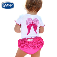 Baby Girls clothing Set baby Clothes sets Cute Girl Angel Wing Tops+Shorts TUTU Party Dress Summer Infant Suit