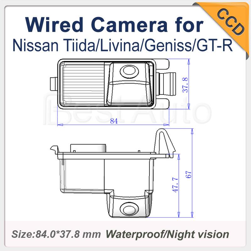 For Nissan Tiida/Livina/Geniss/GT-R Car rear view Camera ! HD CCD Night vision Waterproof car backup Parking camera Security(China (Mainland))