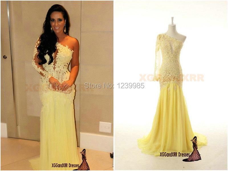 Yellow Prom Dress With Sleeves Sleeve Yellow Long Evening