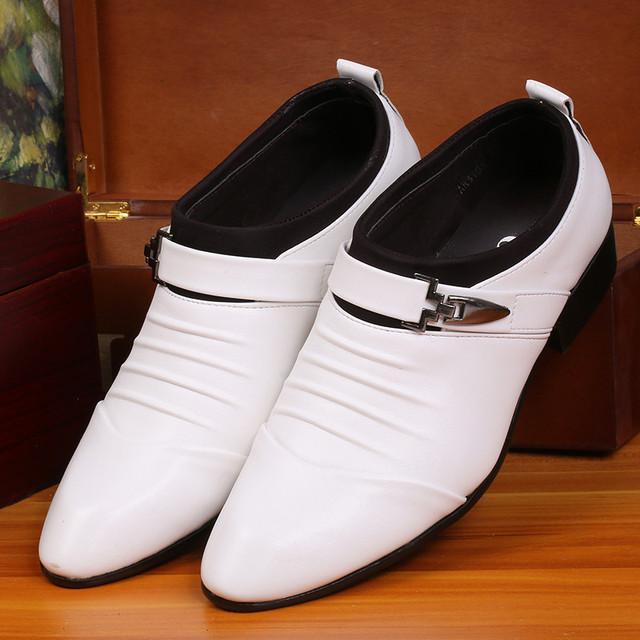 В мода досуг кожаные ботинки белый черный раза пряжки ремня украшения совет размер ...