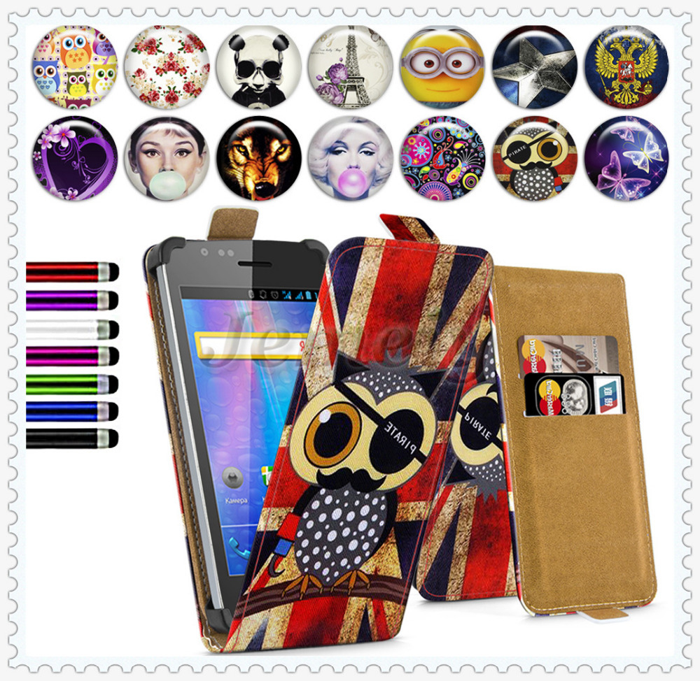 Factory price ! Explay A400 4'' Universal Printed Phone Case, Flip Leather Skin Cover Stand Case For Explay A400 4inch(China (Mainland))