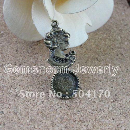 Здесь можно купить  Wholesale 200 Pcs/lot 39*15MM Statue of Liberty Vintage Pad/Base Findings Fit 12mm Round Pendant DIY Jewelry Findings JF018  Ювелирные изделия и часы