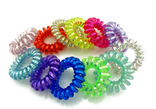 3 5 cm 5 Pcs Lot 2015 Telephone Wire Cord Line Colorful Gum Holder Elastic Band
