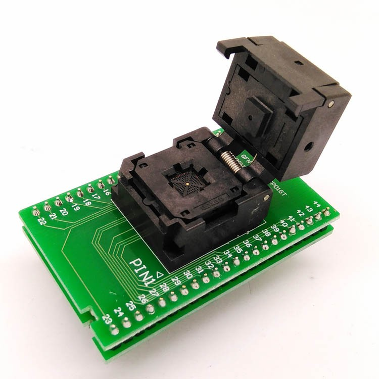 QFN44 MLF44 WLCSP44 to DIP44 Double-Board Programming Socket IC549-0444-015-G Pitch 0.4mm IC Size 6X6mm Test Socket Adapter