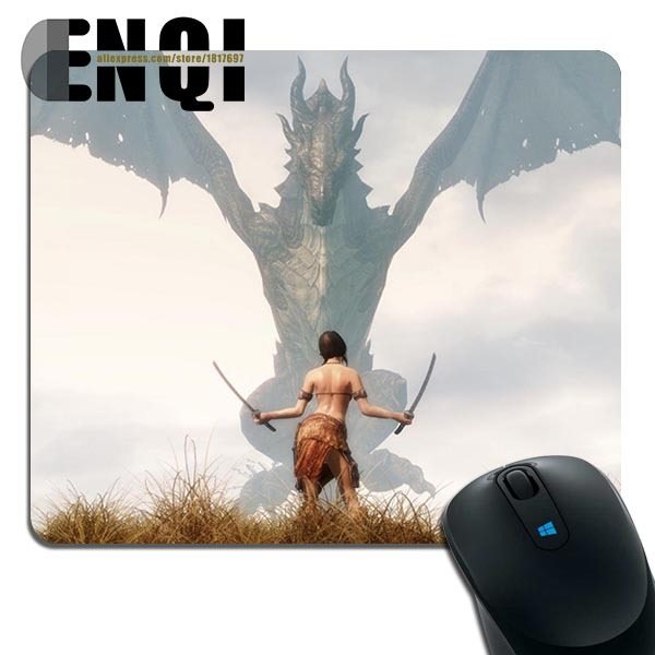 2015 Custom made Skyrim Girl Background Print pattern DIY Manufacture Notebook Mini Game mouse pad(China (Mainland))