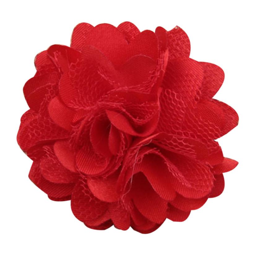 Essential Random Color 20pcs/lot Hair Accessory Rosettes DIY flowers satin silk carnation fabric flower Flat back 624(China (Mainland))