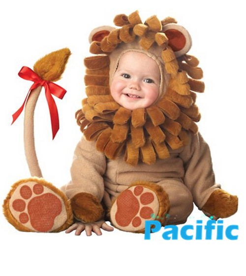 Cute Unisex Lion costume for Baby Girl Boy Cosplay Costume Clothing For Children Brand Halloween New Year Christmas Party Gifts(China (Mainland))