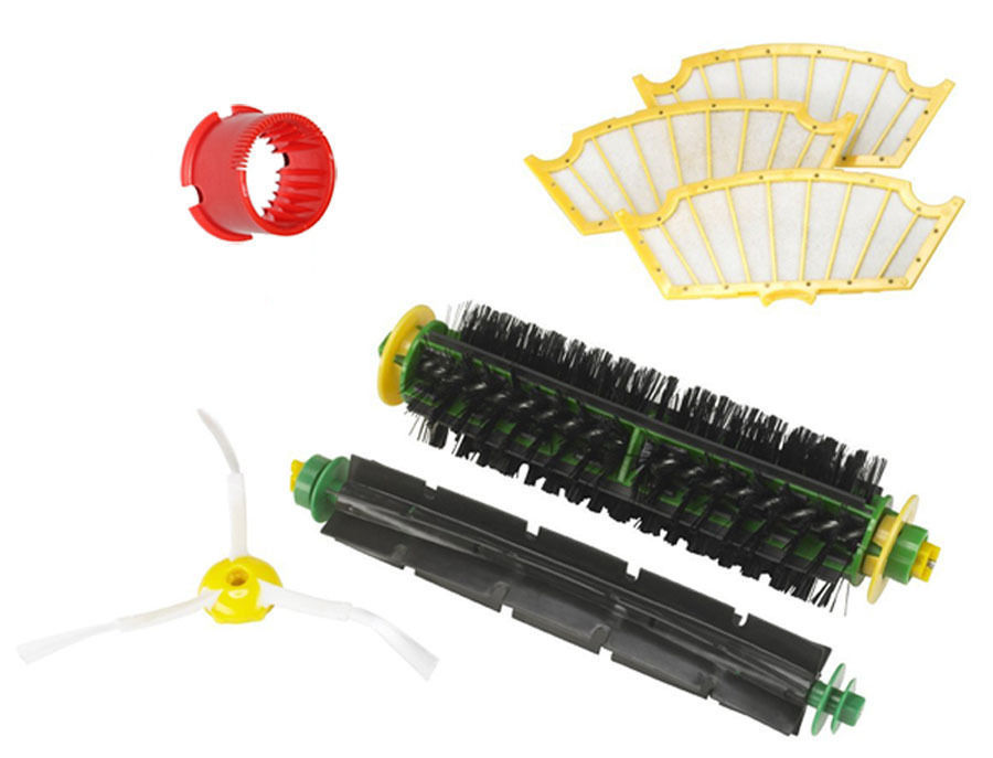 Filter 3-armed Side Bristle Brush Flexible Beater Brush filter For iRobot Roomba 500 Series 530 540 550 560 570 580 551 561 555(China (Mainland))