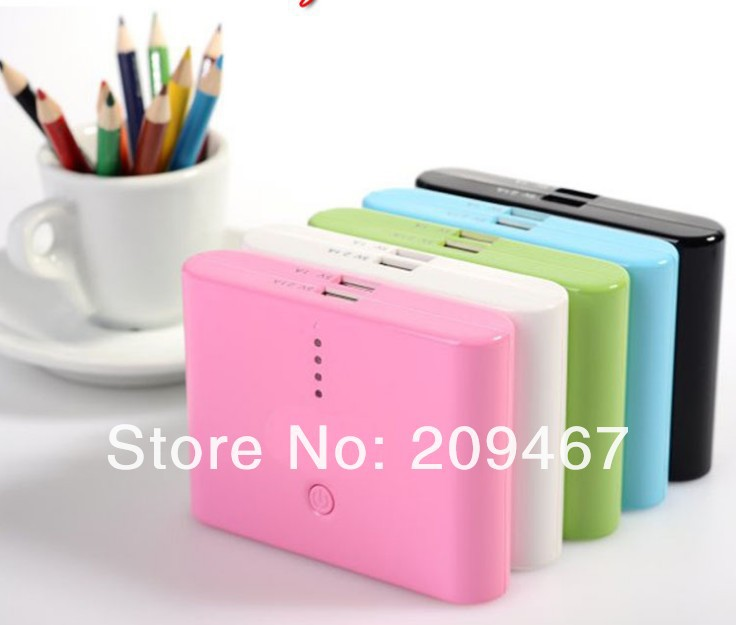100pcs/lot External Portable Battery 20000mAh power bank Portable Power charger external Backup Battery(China (Mainland))