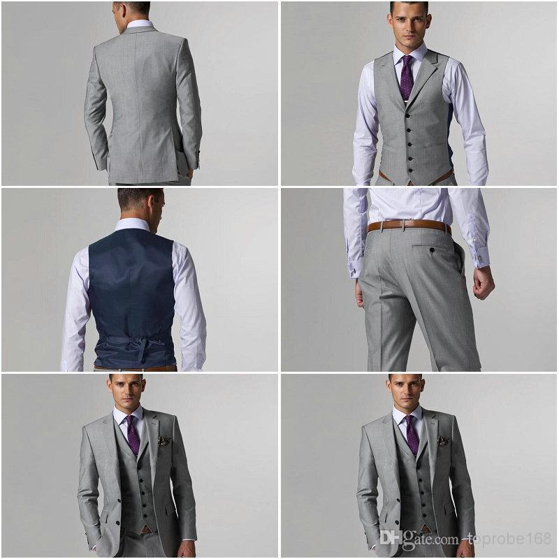 Dhgate Most Of Popular Men Suit Custom Made High Quality 2015 Fall WinterThree Piece Groom Tuxedo (Jacket+Pants+Vest+Tie) A243(China (Mainland))