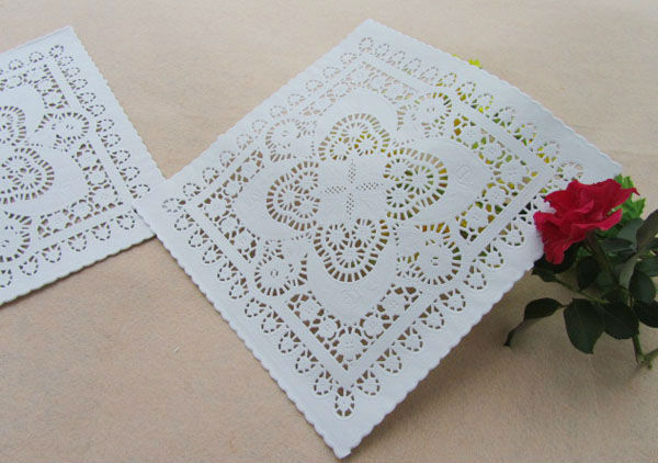 """10""""=25.4cm Vintage Square Paper Doilies / Doyleys Lace Crafts YN-110302(China (Mainland))"""