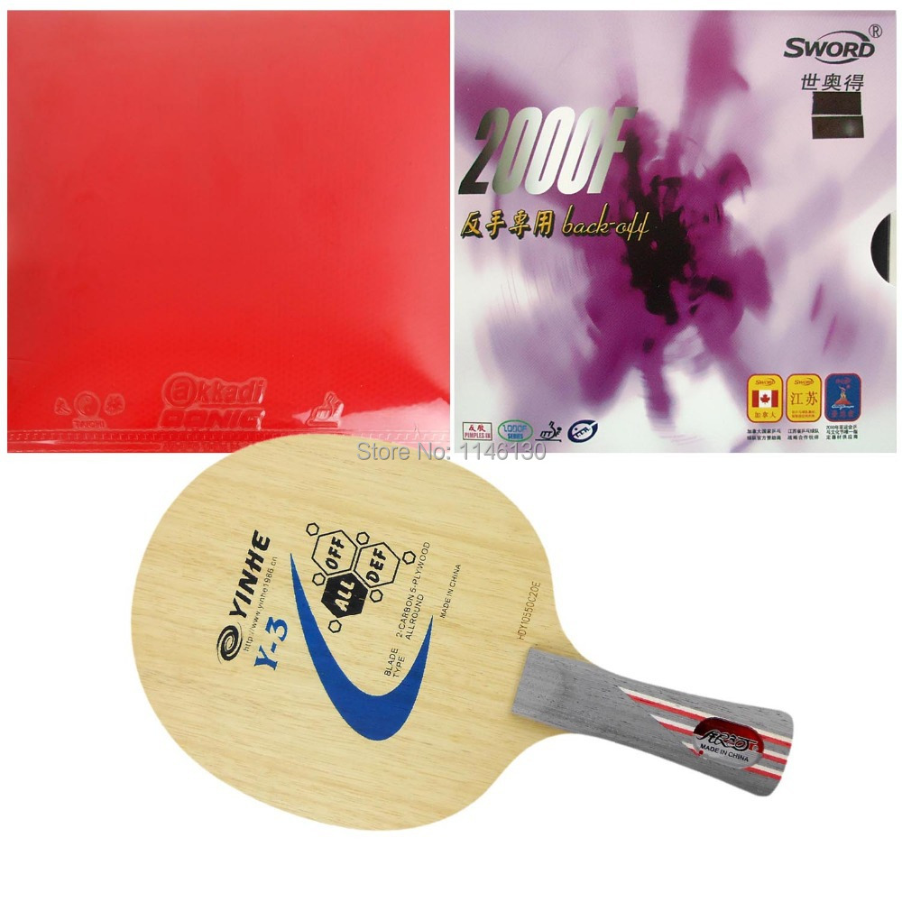 Pro table tennis / ping pong combo racket: Galaxy Y-3 + Donic TAICHI (Tacky) / Sword 2000F (back-off)<br><br>Aliexpress