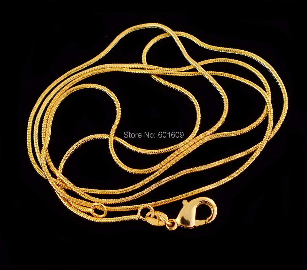 2014 Free Shipping 1pc Gold Plated 1.2 MM Elegant Pattern Snake Chain Unisex Men/Women's Necklace (DIY PENDANT) 16INCH-30INCH(China (Mainland))