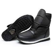 De las mujeres que espesan las botas térmicas impermeables botas de nieve botas de trabajo y de seguridad gancho de nieve al aire libre zapatos antideslizantes zapatos básicos amantes(China (Mainland))