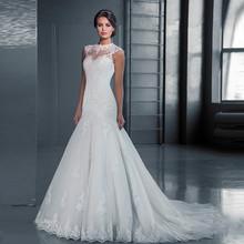 Buy vinca sunny 2017 romantic Lace Sleeveless Lace Mermaid Wedding Dresses Appliques Bridal Gowns vestido de noiva robe de soiree for $199.00 in AliExpress store