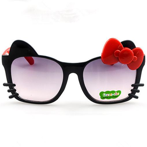 Летом стиль Новое прибытие Высокого качества мода милый ребенок Hello-Kitty очки детские солнцезащитные очки Оптом