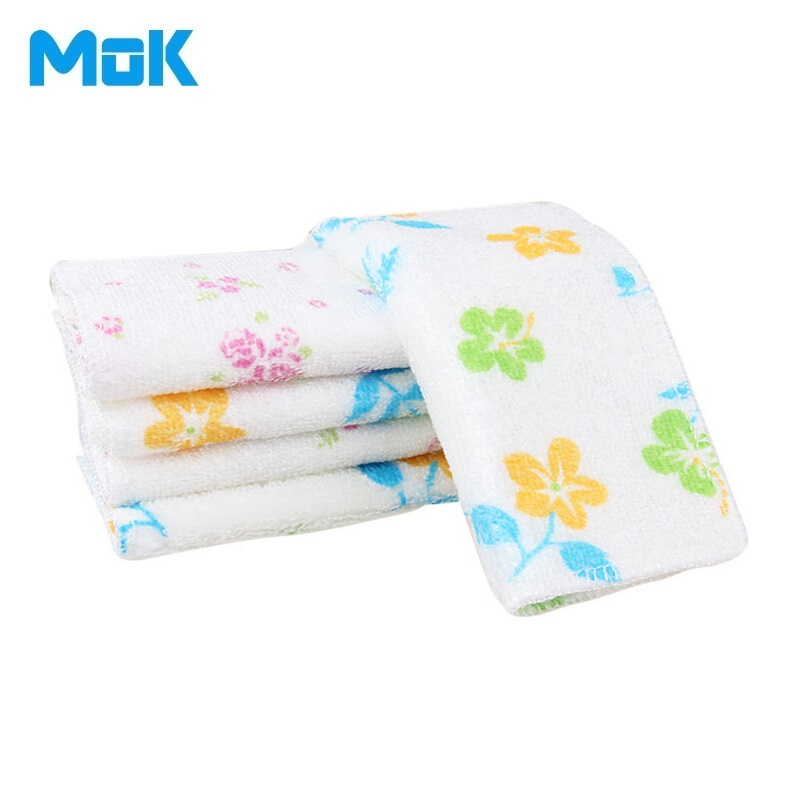 20x25cm 10pcs Flower Printed Bamboo Microfiber Dish Towels Cleaning Cloths Easy to Oil Remover Washing Kitchen Accessories(China (Mainland))
