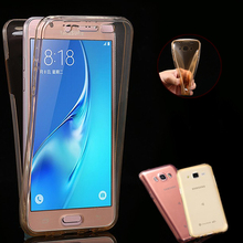 J5 NEW Front+Back Soft Clear TPU Case Samsung Galaxy 2015 J500 / 2016 J510 SLIM Gel Silicon Full Body Protect Phone Cover - JFVNSUN (HongKong store Co., Ltd Store)