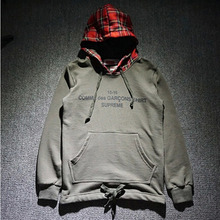 New Cooperation 2016 Models Supreme Hoodie Fashion Fleece Sweatshirts Brand Sup X CDG Hoodie Hot Sale(China (Mainland))