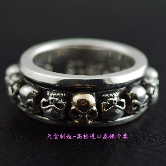 925 pure silver ring apotropaic transport ring skull<br><br>Aliexpress