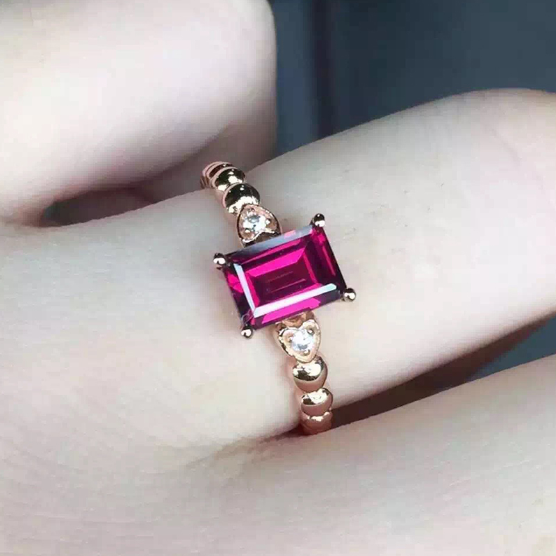Hot sale silver engagement ring 100% natural ruby geme woman wedding ring for evening party 925 Solid Sterling Silver ruby ring(China (Mainland))