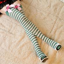 Fashion Women Girl Lovely Stocking Bow Stripe Long Hosiery GR-081