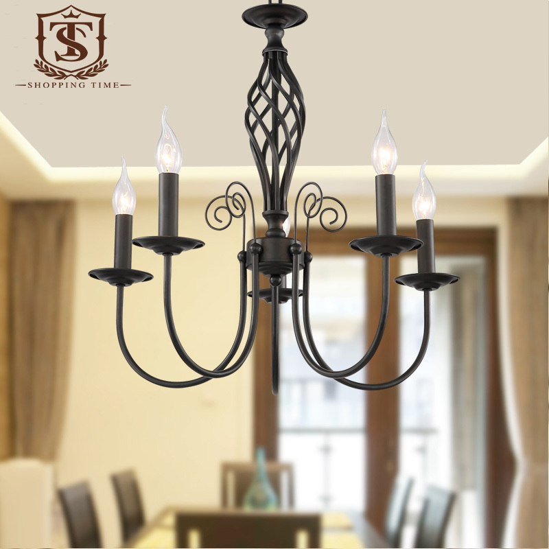 April 2017 Archive dining room carpet mat black iron  : Classic Retro Cast Iron Chandelier E14 Candle Hanging Lighting Black Wrought Iron 5 Lights For Dining from kingoffice.us size 800 x 800 jpeg 137kB