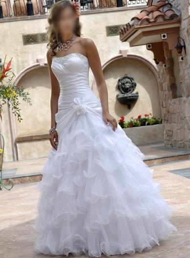 Free shipping fashion beach sweetheart princess dress organza ruffles backless wedding dresses size custom delivery fast(China (Mainland))