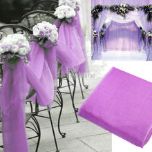 Lowest Price 75 CM * 1000 CM sheer organza roll Wedding Chair cover sash Hotel Banquet Decor mesh sash Table Runner(China (Mainland))