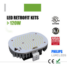 temperature control 120w led wall pack light street light retrofit kits with ul dlc certification(China (Mainland))