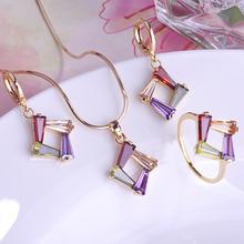 Fashion Gorgeous Bijoux Zircon Aneis Wedding Jewelry Sets Gift Feminino Filled Gold Ouro Weding Jewelary Anel Conjunto De Joias(China (Mainland))